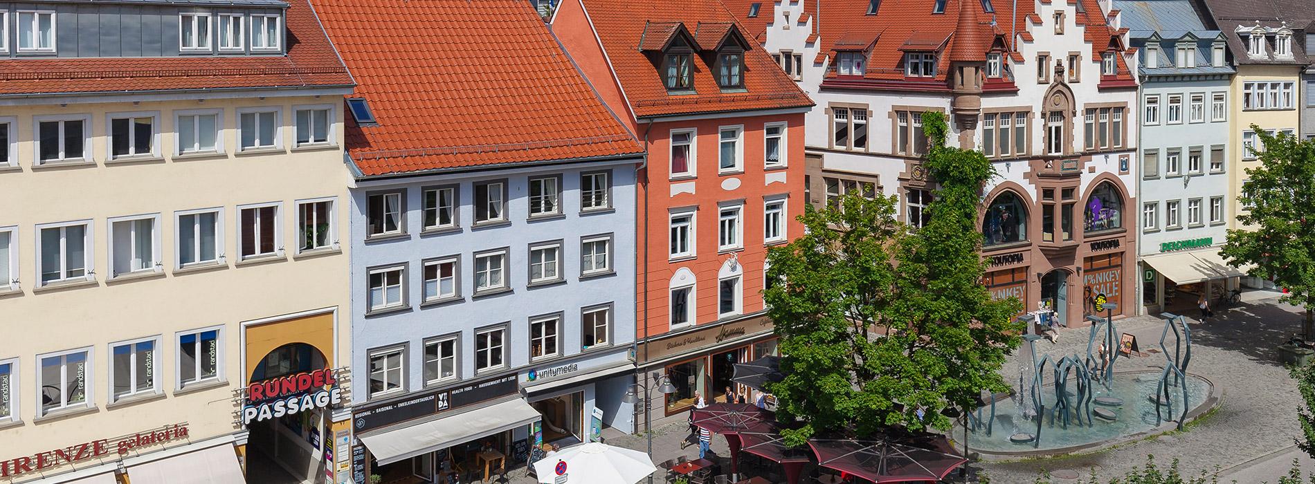 Blick auf den Marienplatz